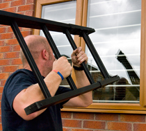 Camlock Police Window Breaker Ladder